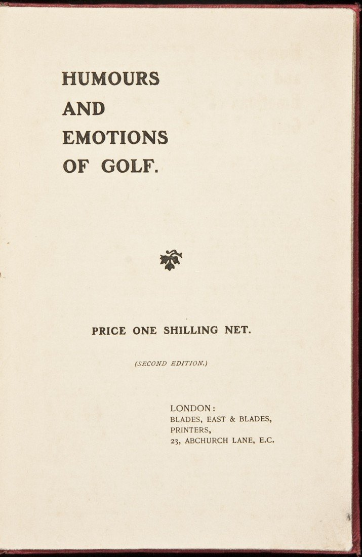 19: Humours and Emotions of Golf 2nd ed 1922