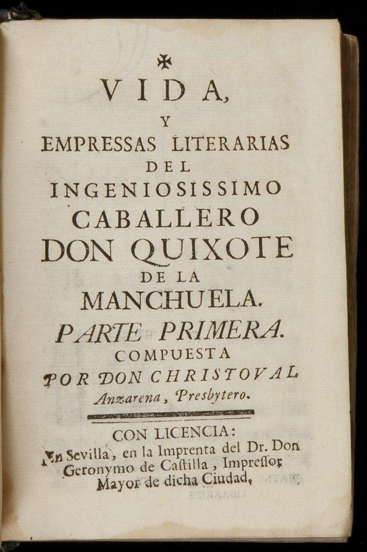 2: Scarce Don Quixote imitation by Anzarena
