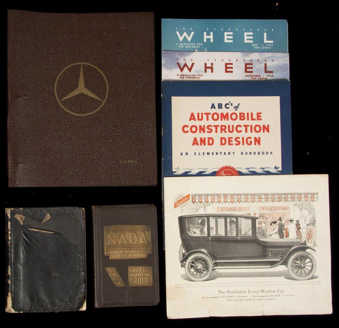 5: 7 items of bks, ephemera, cars early 20th cent