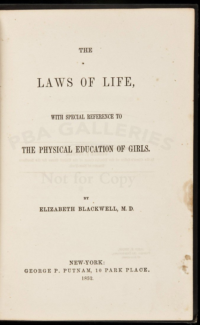 11: First book by the first American Woman Doctor