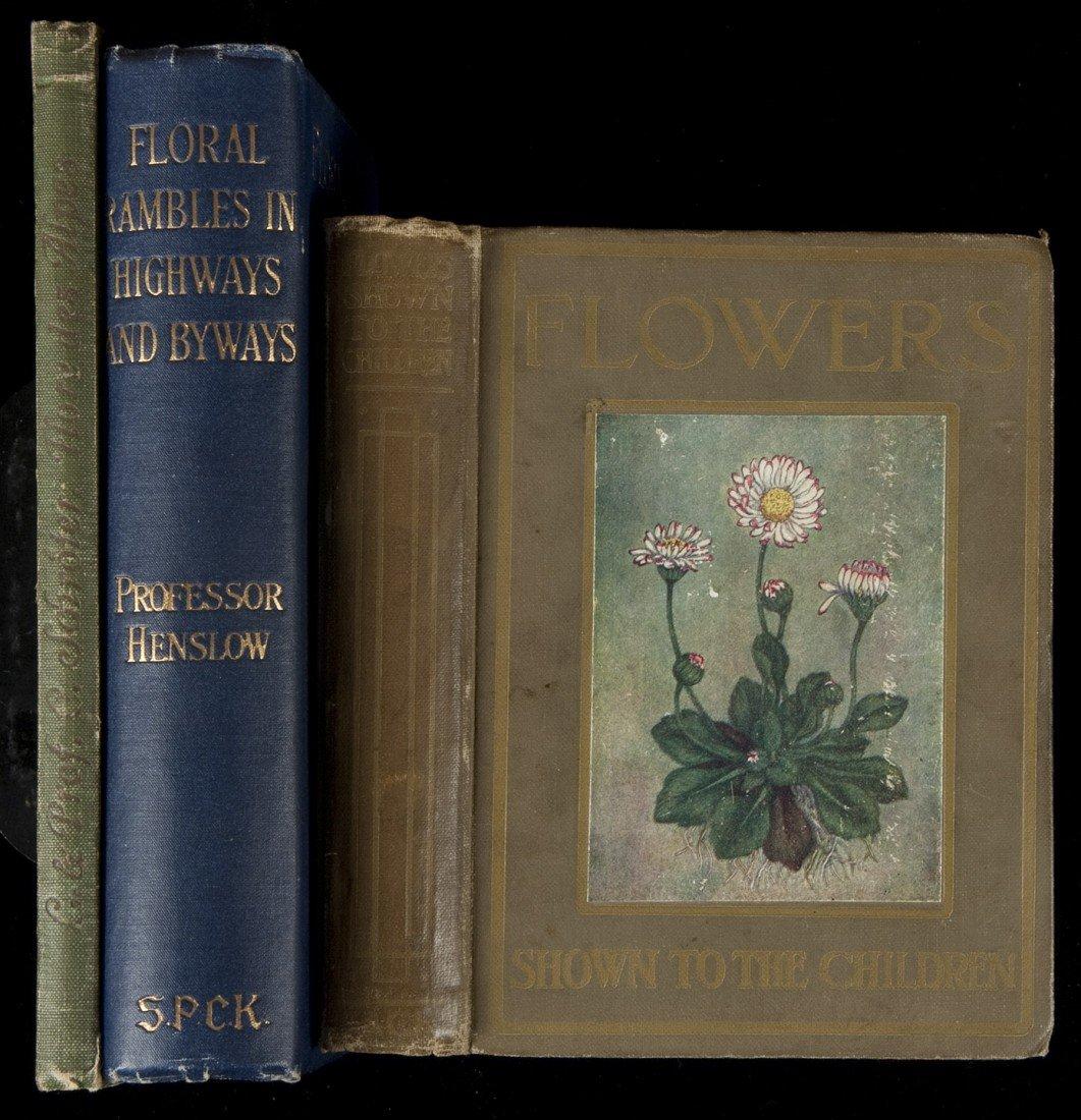 18: Three volumes on flowers