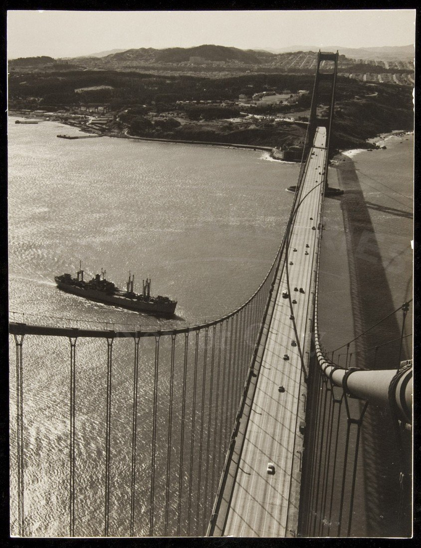 Ansel Adams photo taken from Golden Gate Bridge