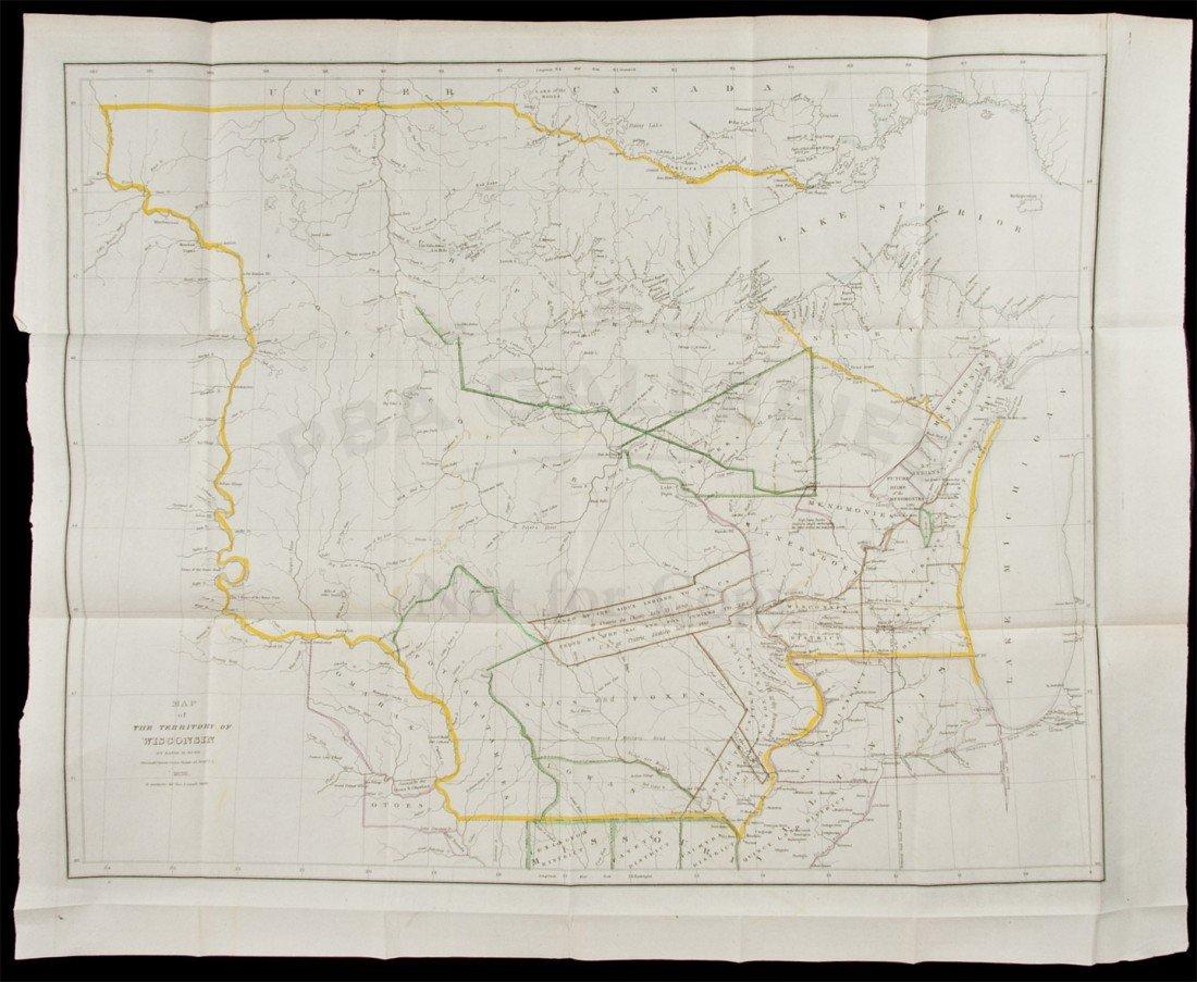 300: Burr map of Wisconsin 1836