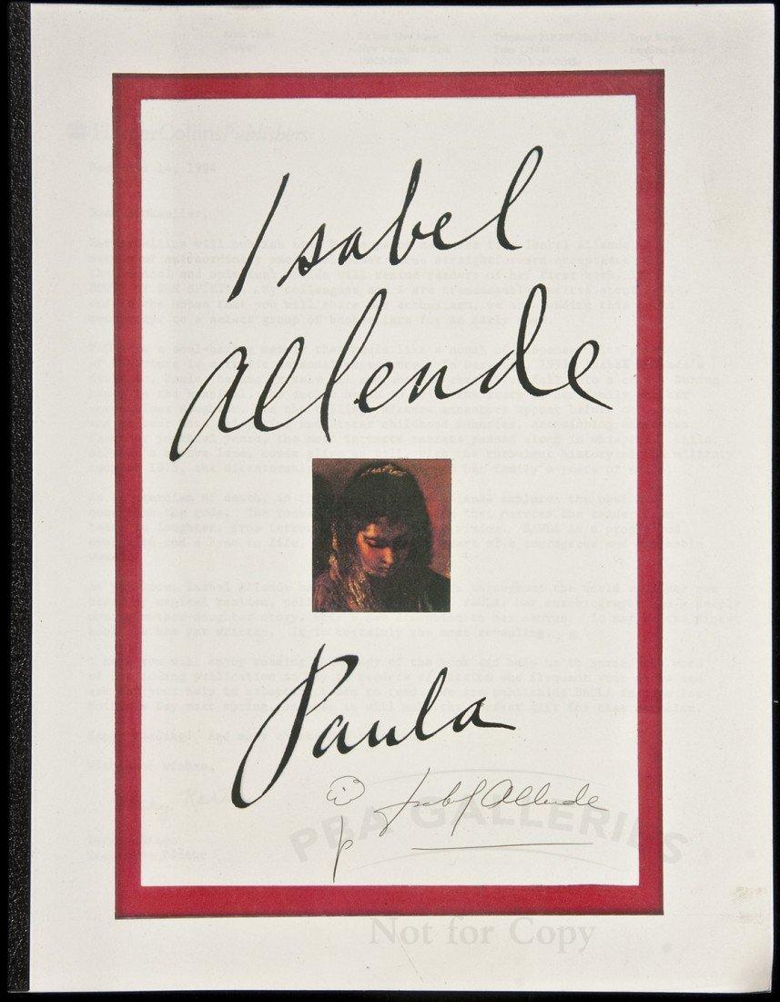 3: Advance copy of Isabel Allende's Paula - Signed