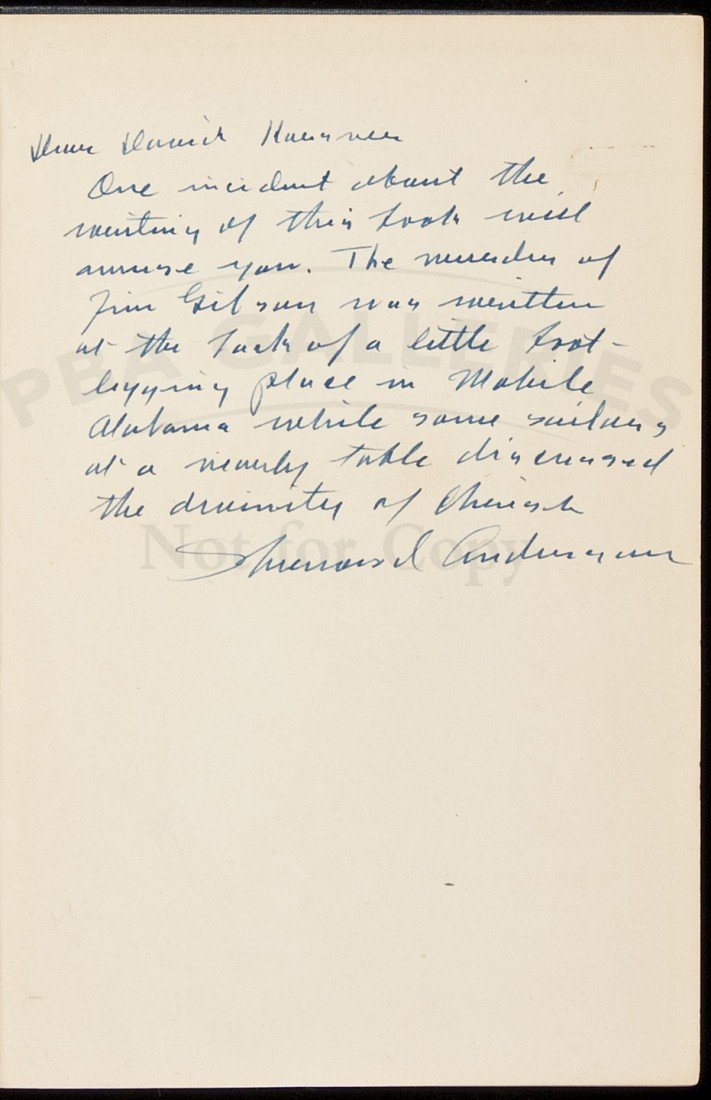 5: Poor White inscribed by Sherwood Anderson 1st