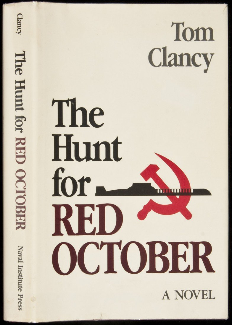 16: Tom Clancy Hunt for Red October 1st edition