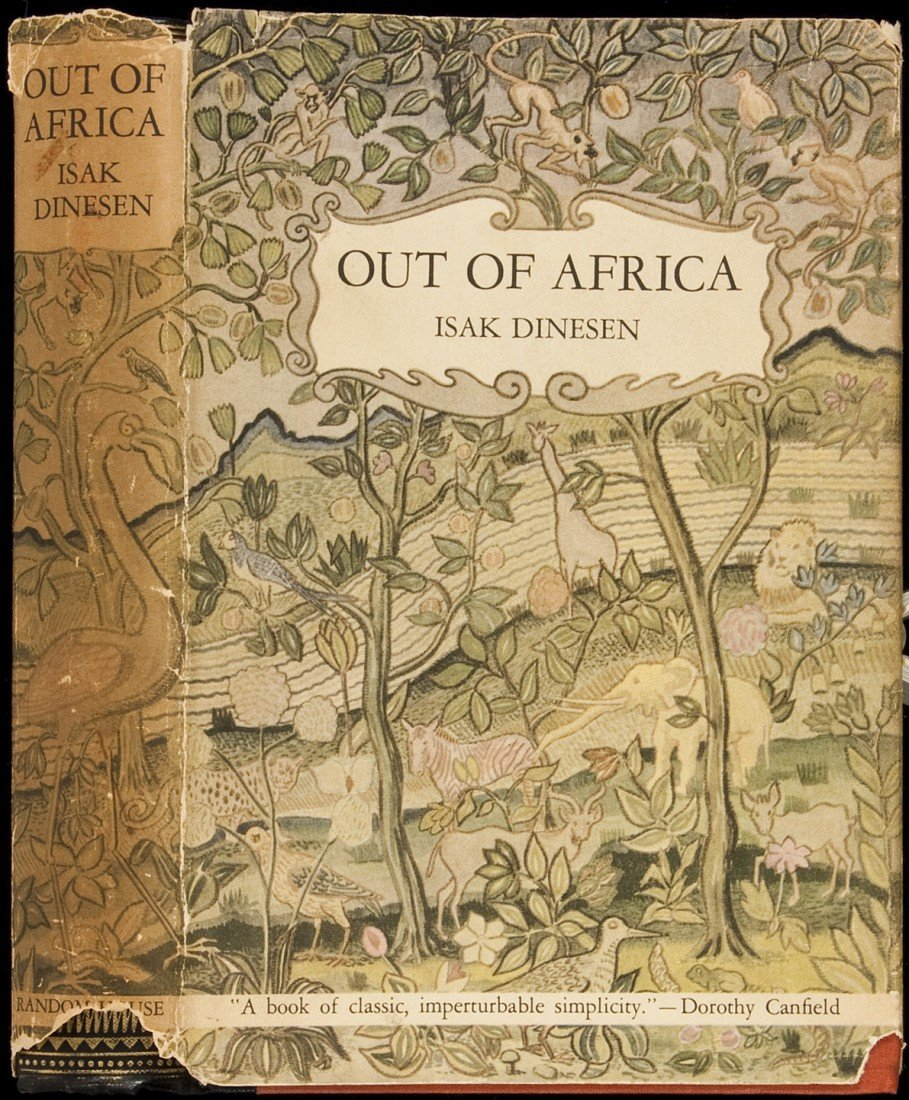 20: Out of Africa by Isak Dinesen 1st US ed in dj