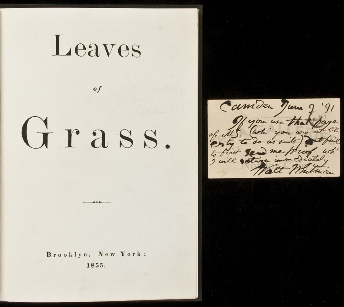 186: Walt Whitman Leaves of Grass First Edition