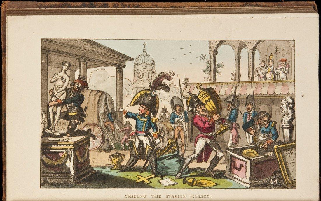 260: Life of Napoleon 30 color plates Cruikshank 1815