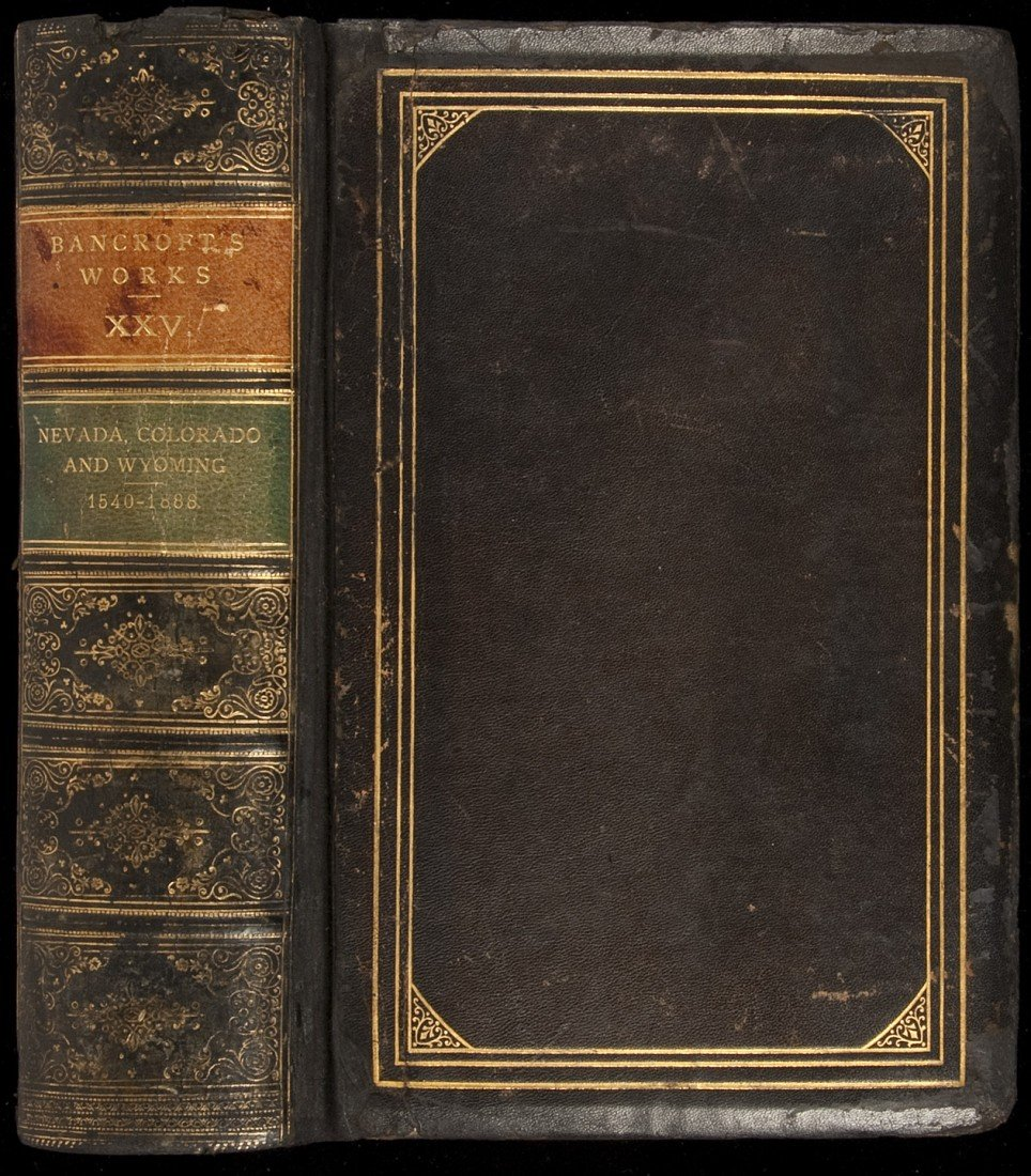 9: History of NV, CO, WY by Bancroft finely bound