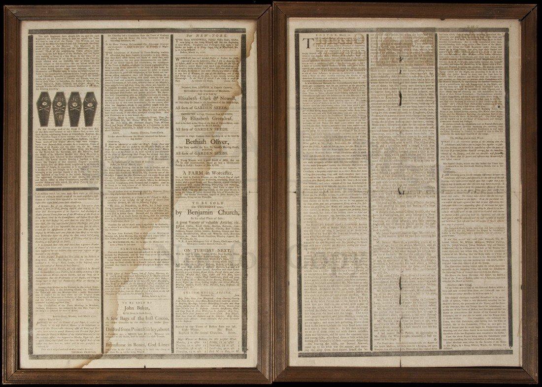 17: Boston Gazette Mar 12, 1770 Boston Massacre