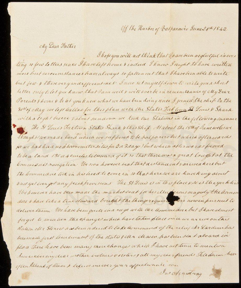 22: Letter from midshipman aboard the U.S.S. Cyane