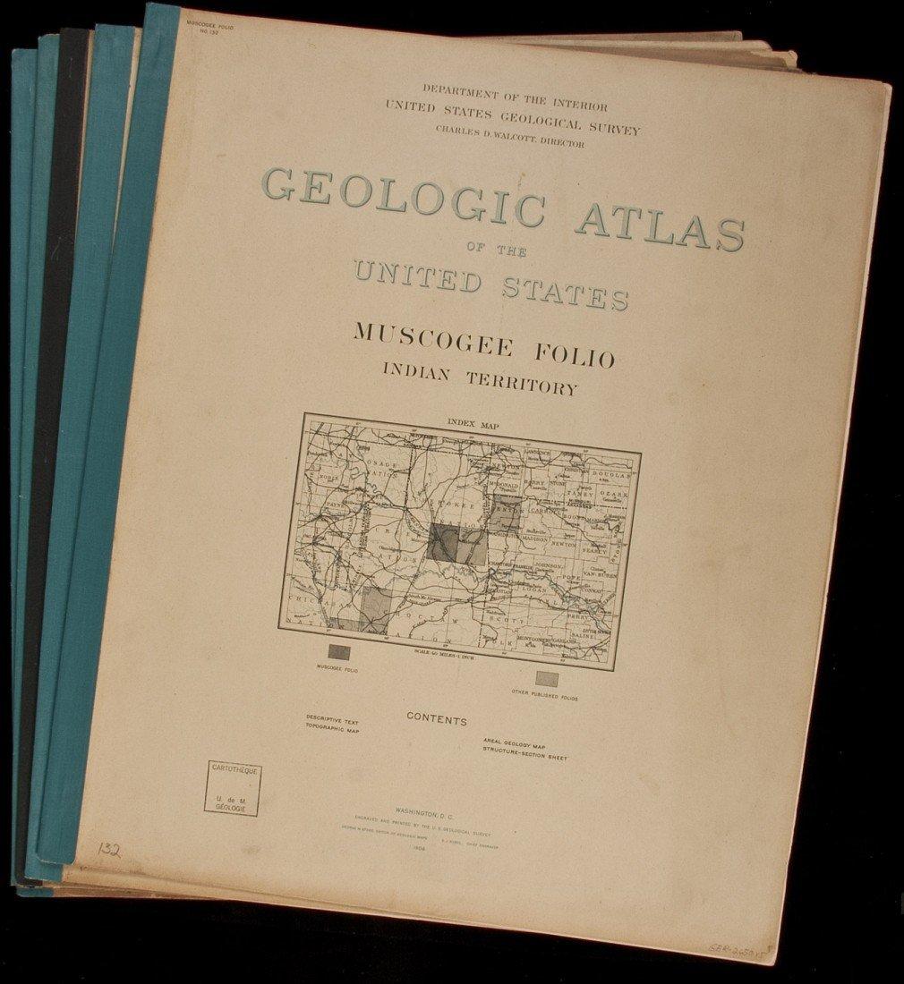 6: Geologic Atlas of US 5 vols of Indian Territory