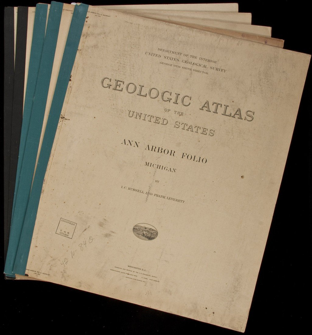 7: Geologic Atlas of US 5 vols of the Midwest