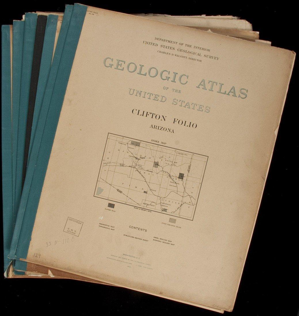 8: Geologic Atlas of US 7 vols of Western cities