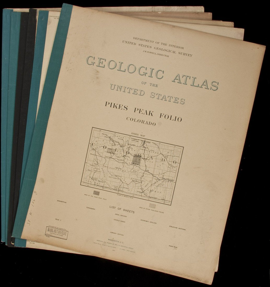 9: Geologic Atlas of US 6 vols of Colorado