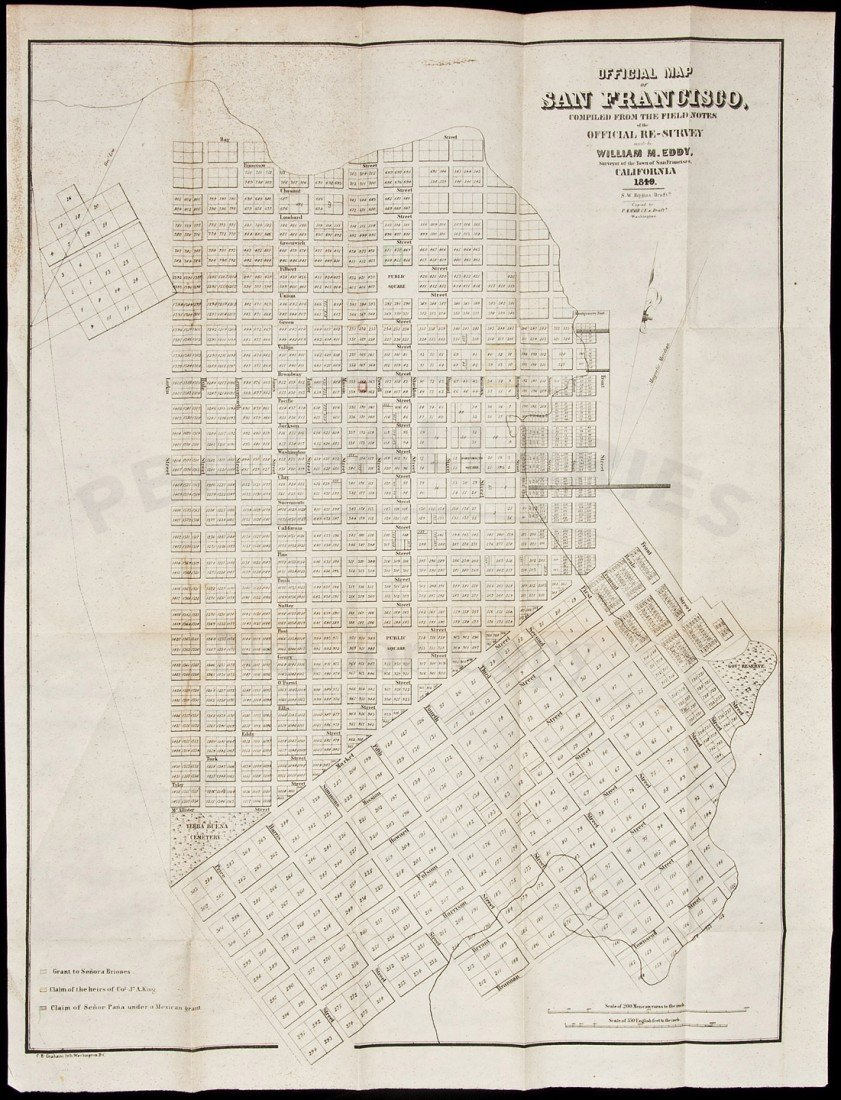 11: Eddy Map of San Francisco 1849