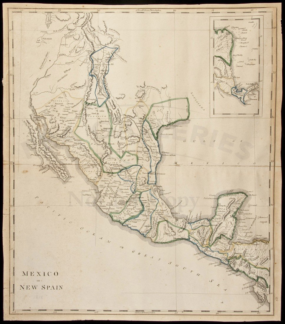 13: Carey map of Mexico 1818