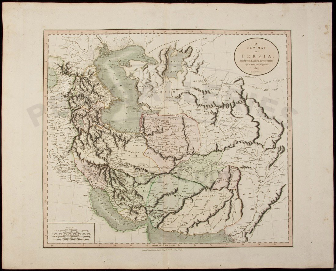 14: Cary Map of Persia 1801