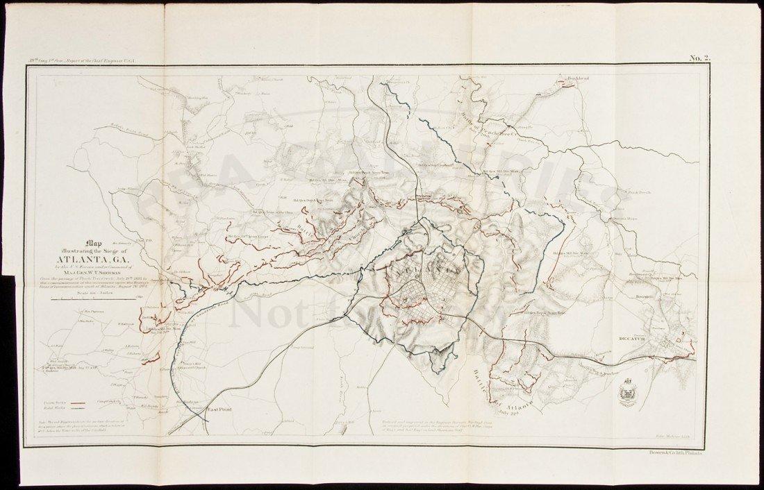 17: Map Illustrating the Siege of Atlanta Civil War