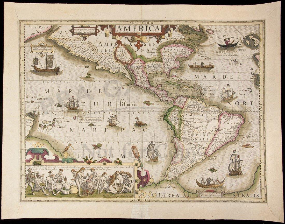18: Hondius map of Americas, 1613