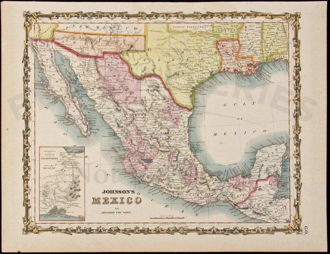 22: Johnson's Mexico by Johnson & Ward c.1850