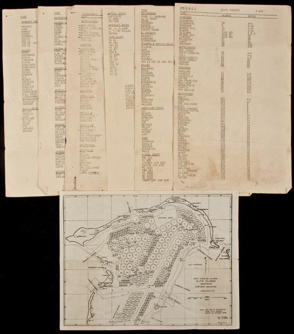 49: Map of Navy Anchorage at Ulithi, 1944