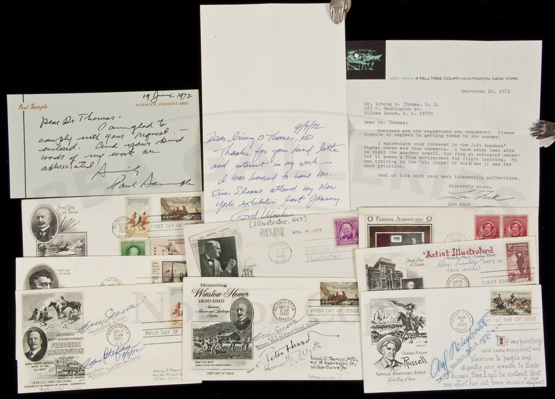 7: Artists' Signatures on 1st Day Covers
