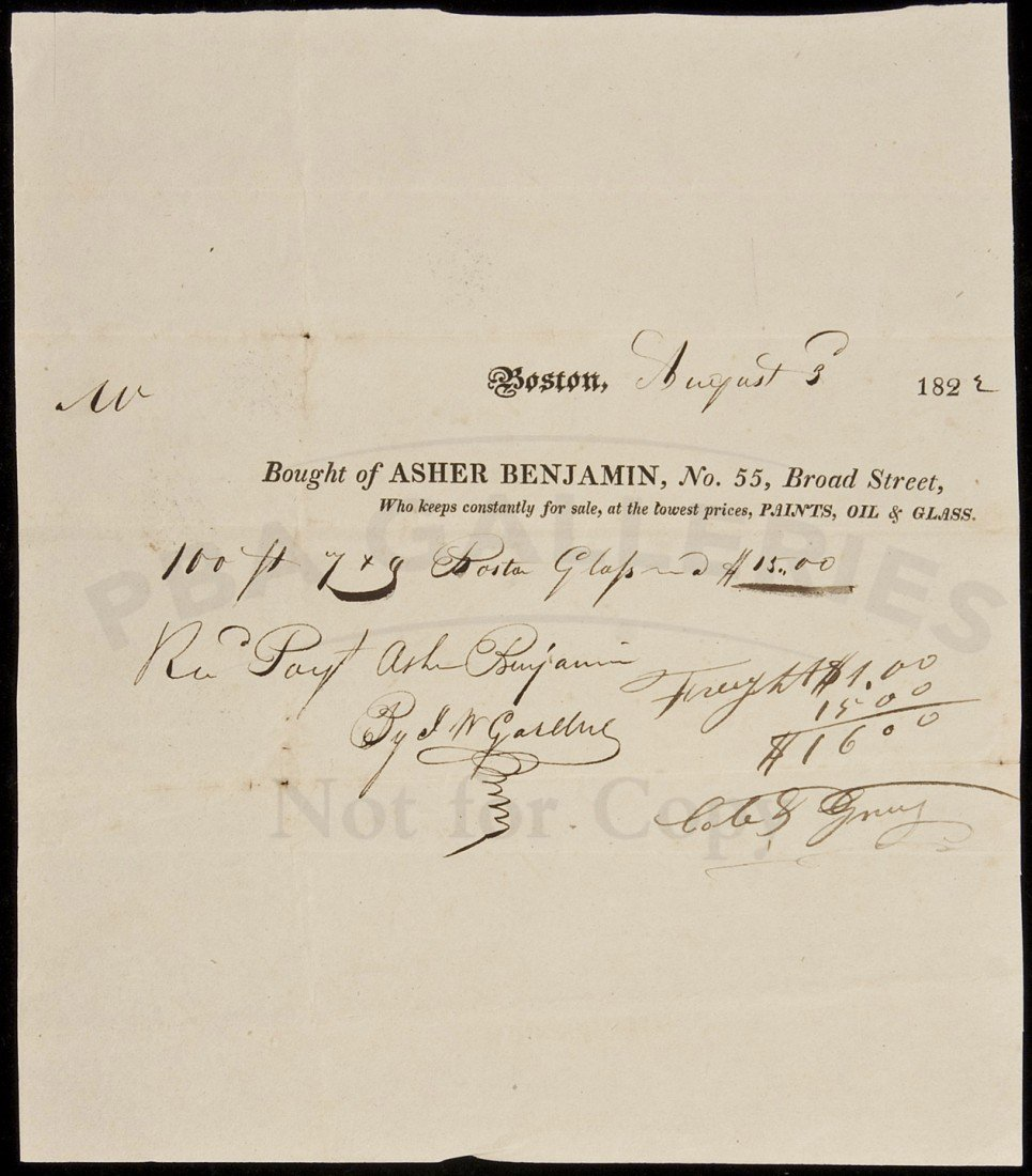 13: Document signed by Architect Asher Benjamin