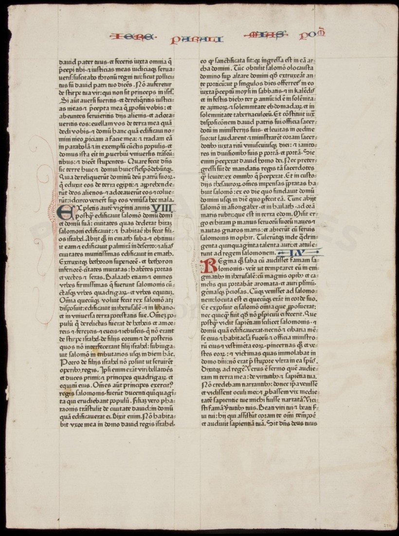 15: Leaf from the 1462 Fust and Schoeffer Bible