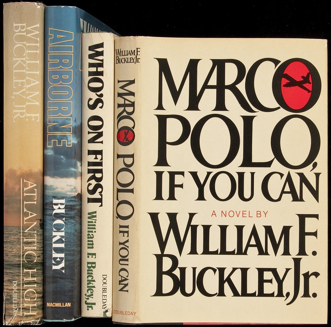 11: Four novels by William F. Buckley, Jr. - signed