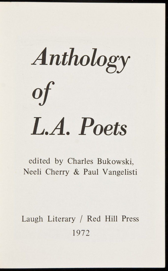 15: Anthology of L.A. Poets edited by Bukowski