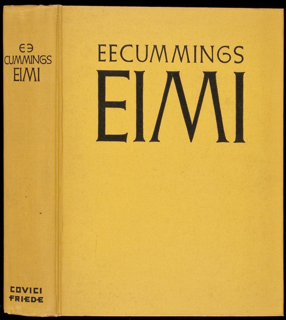 88: E.E. Cummings EIMI Signed Limited 1st Edition