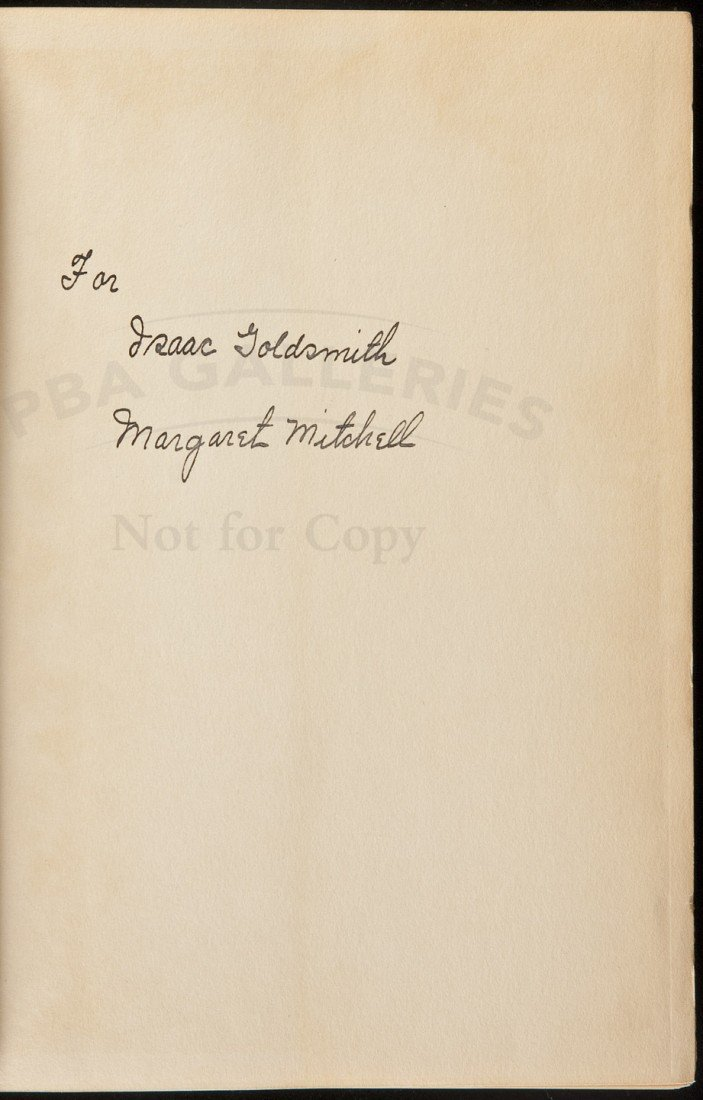 199: Gone With the Wind inscribed in jacket