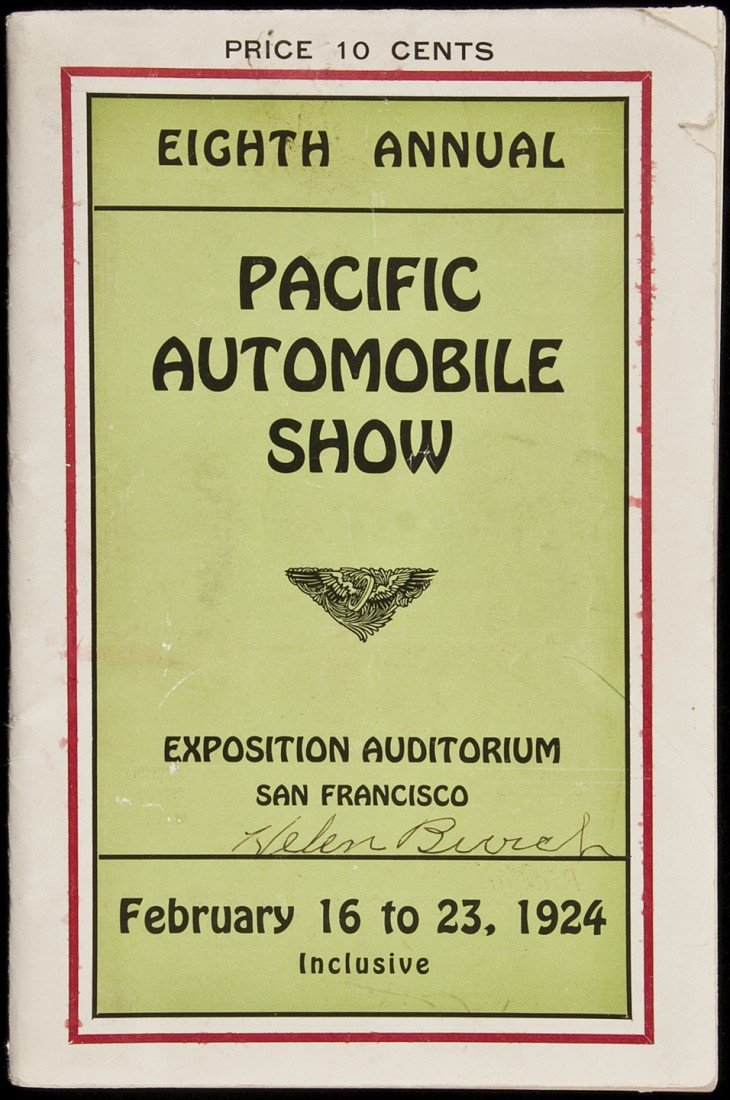 12: 8th Annual Pacific Auto Show in SF 1924 program