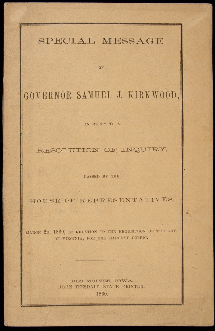 18: Rare John Brown's Raid Pamphlet 1860