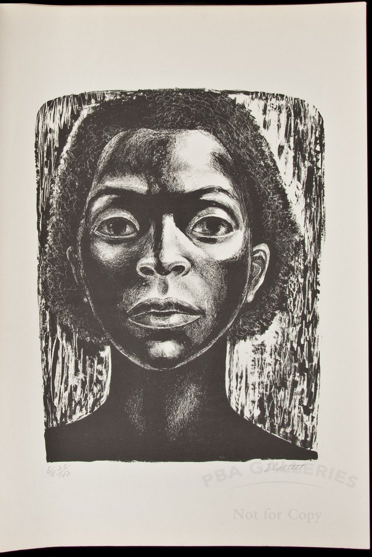 43: Five Lithographs by Elizabeth Catlett 1973