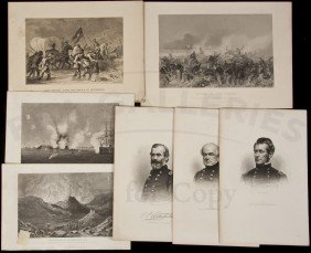 Lot Of Engravings On American People And Places