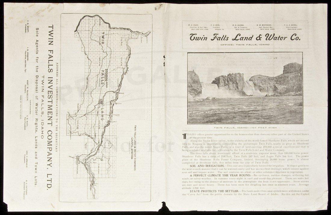 101: Prospectus for Twin Falls Land Idaho