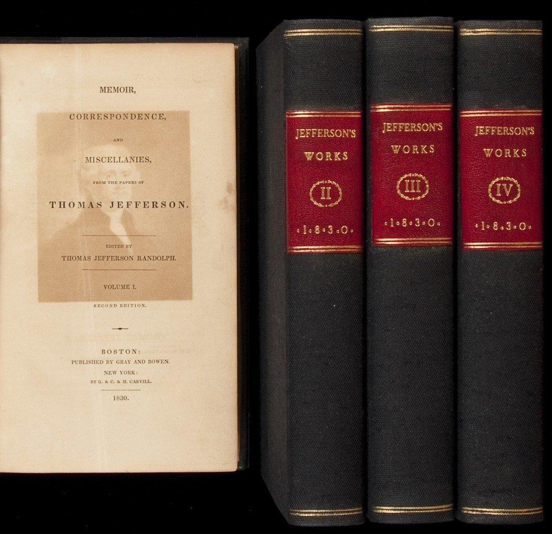 107: Thomas Jefferson Memoirs Correspondence etc