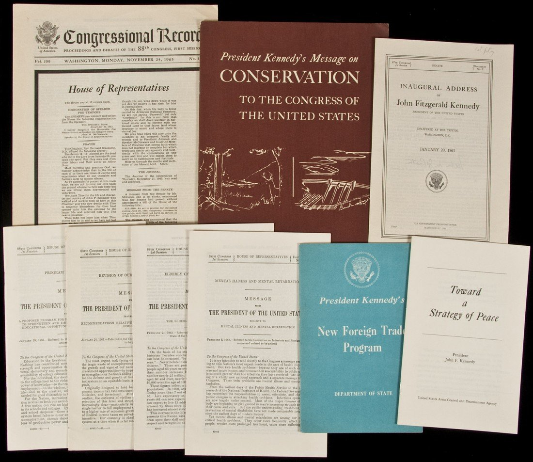 111: Small group of JFK related items