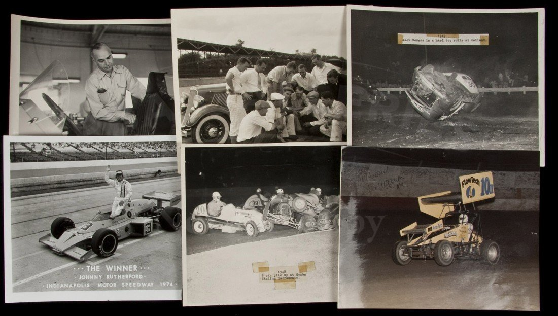 10: Collection of mid-century auto racing photographs