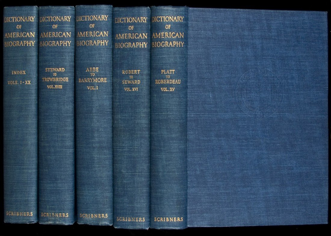 23: Dictionary of American Biography 21 vols