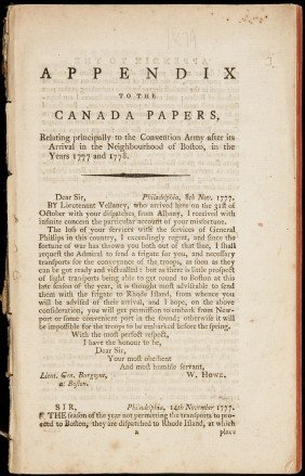 British Army At Boston 1777-78