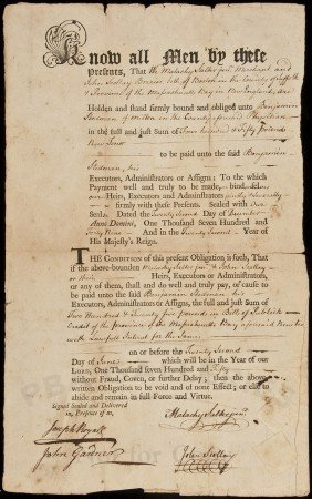 Colonial Boston Document Signed By John Scollay