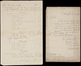 12: Rare document signed by George Yonge