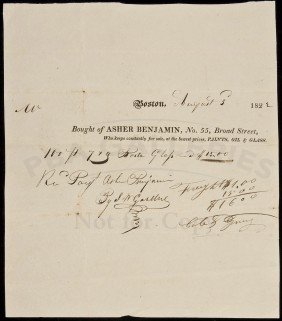 16: Signed by American-born Architect Asher Benjamin