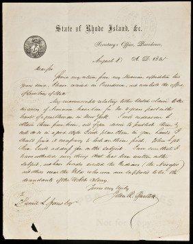 21: John R. Bartlett ALS on Welsh in America