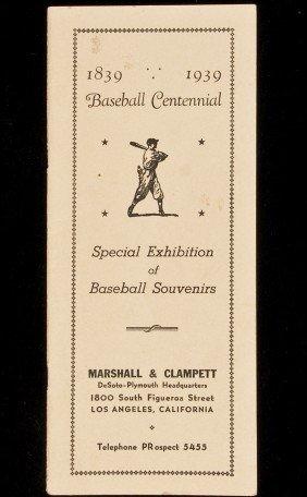 22: Centennial exhibition of baseball souvenirs in LA