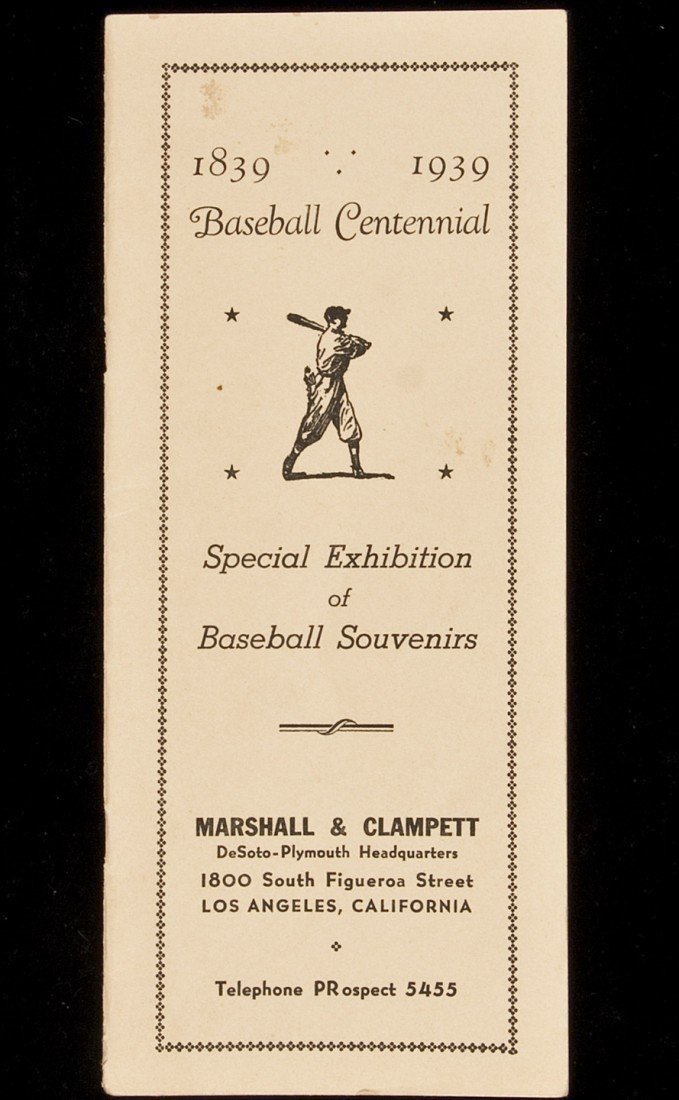 22: Centennial exhibition of baseball souvenirs in LA